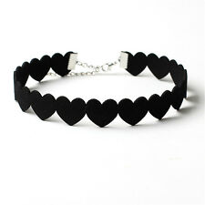 Korea Heart Necklace Collar Cashmere Velvet Love Choker Necklace Models to