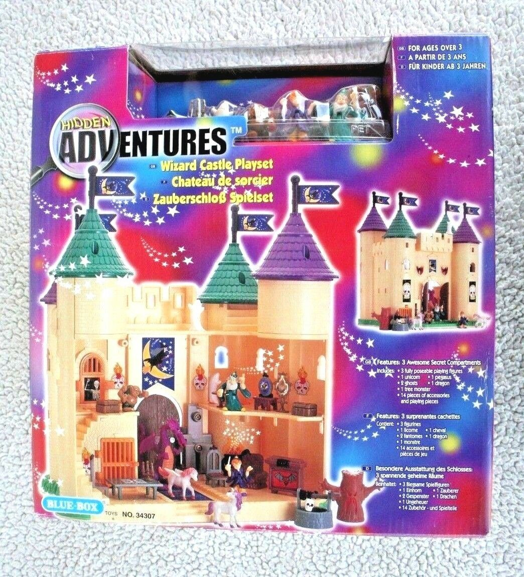 Blau-BOX WIZARD CASTLE (HIDDEN ADVENTURES). GHOST UNICORN.. (POLLY POCKET). BN