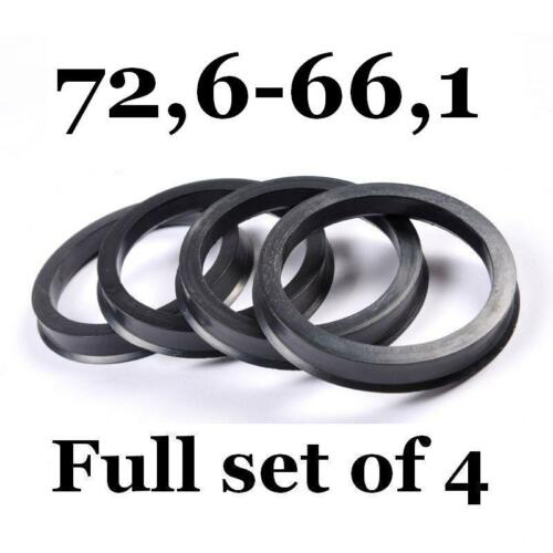 Spigot Rings 72.6mm 66.1mm 72,6-66,1 Hub Centric Rings FULL SET OF 4 FOUR