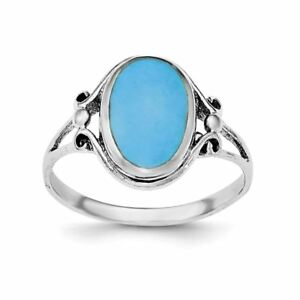 .925 Argent Sterling Poli Taille Turquoise Ring-afficher Le Titre D'origine Qga9cjxs-07230510-194721884