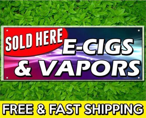 2 x 4 ft E CIGS /& VAPOR Sign Banner 13oz Vinyl w// Grommets Retail Store Sale