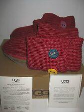 NEW BOX UGG Australia Youth US 4 EUR 34 Women 6 Big Kids Red Cardy II Tall Boots