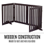 thumbnail 3 - Pet Gate Step Over Dog Gate Freestanding Assembly-Free Puppy Foldable Fence New