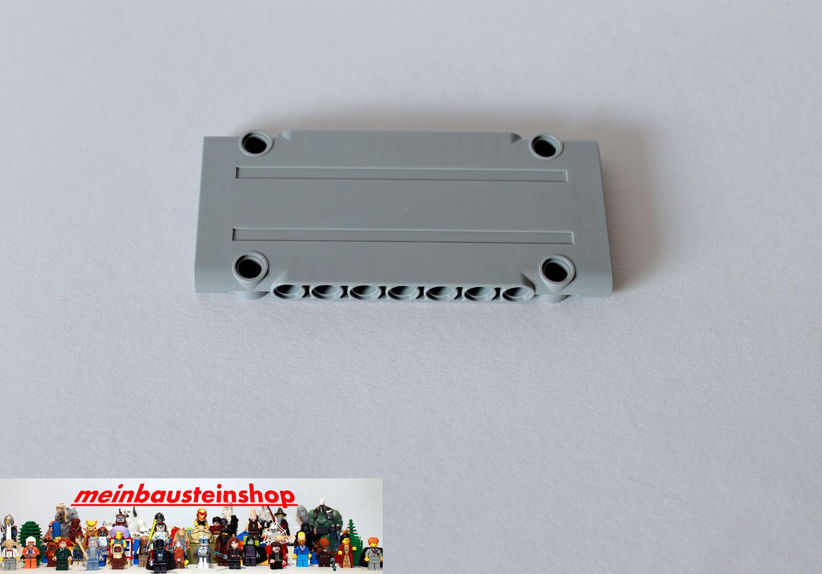4x New Lego Technic EV3 Panel Plate 5x11x1 Light Bluish Grey 64782
