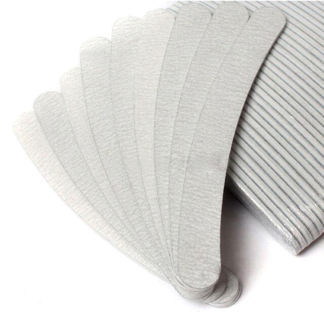 50 x Nail Files Buffing Grey Banana Grit Sandpaper Nail Art Acrylic UV Gel Tips