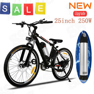 "26/"" 36V Fat Tire Electric Bicycle Bike Ebike Mountain Beach w// Lithium Battery T"