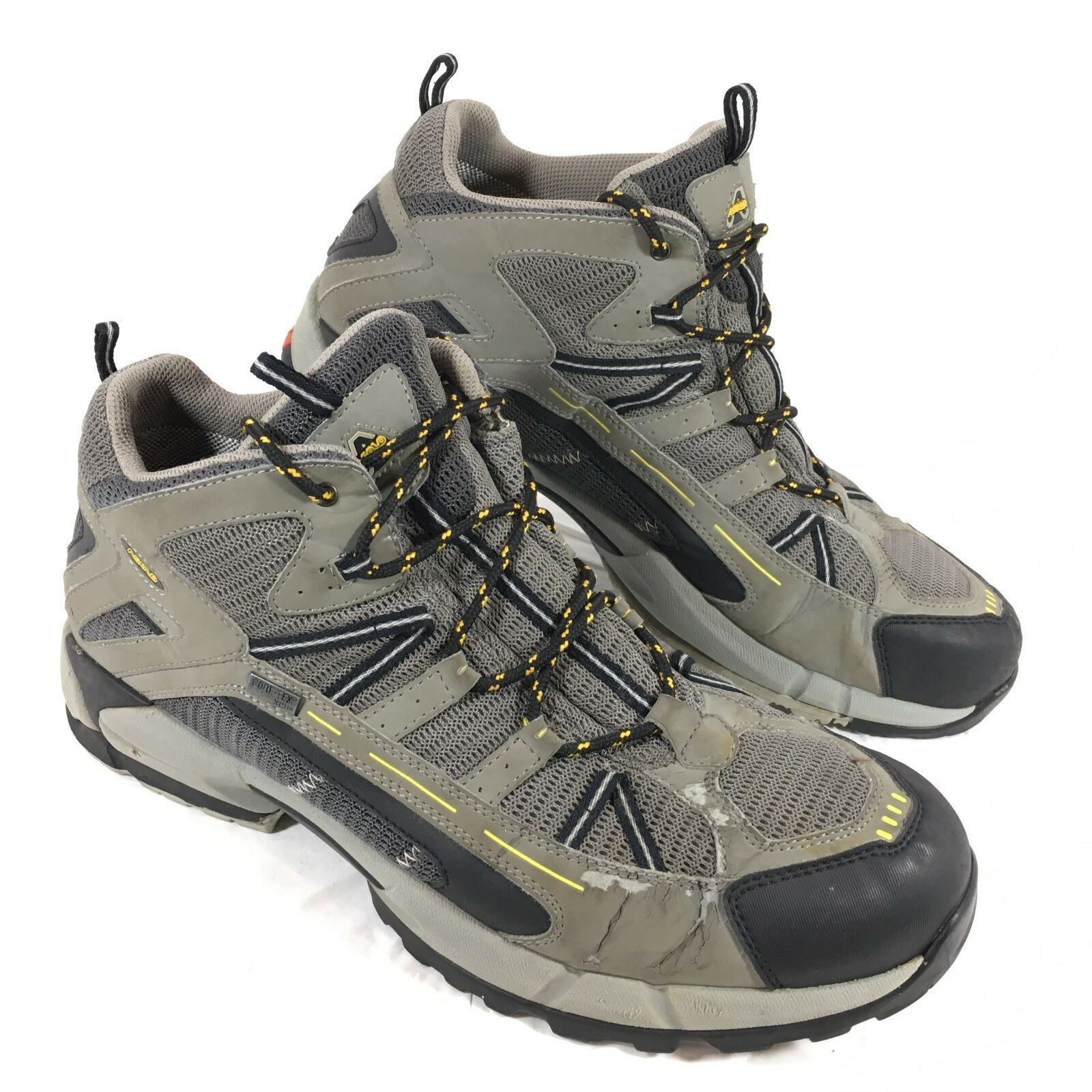 Homme Asolo Gris Hiking Trail Chaussures Tenacity XCR Sz 11.5