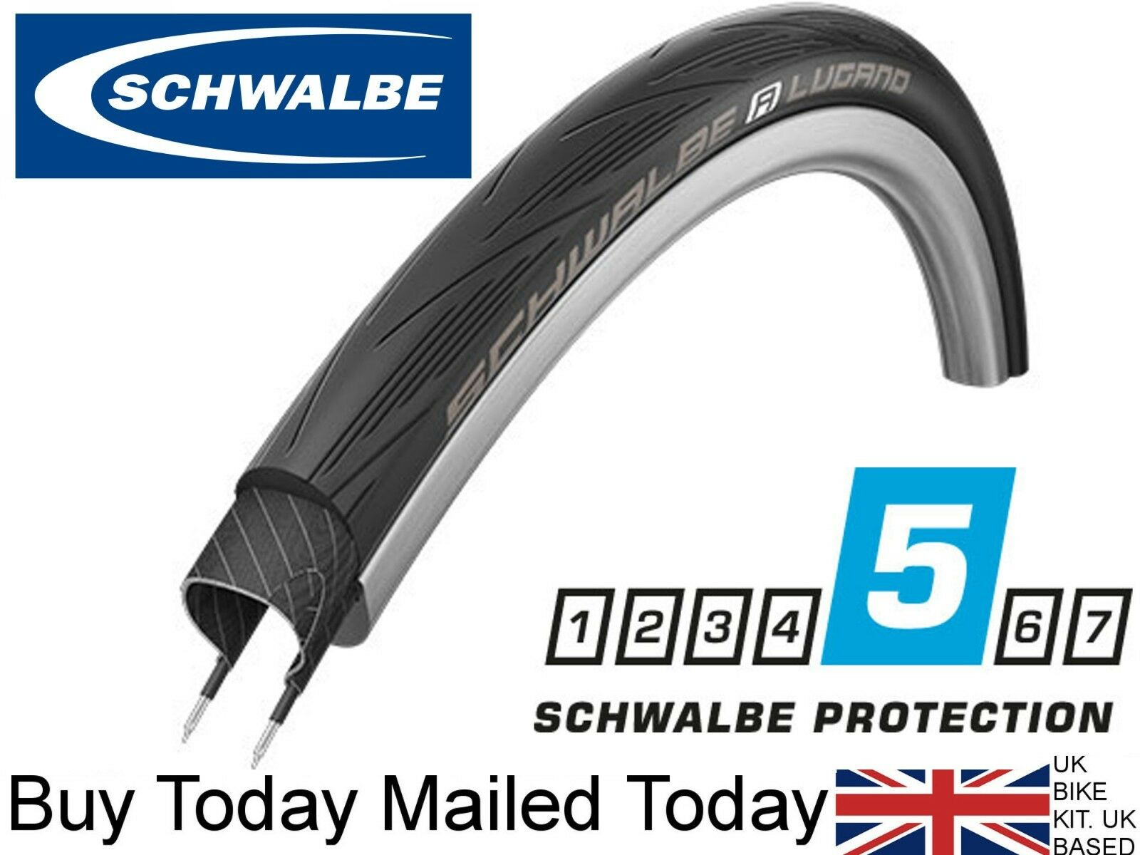 Schwalbe Lugano Endurance 700 x  25c Plus Level Anti Puncture Durano style Fixie  best fashion