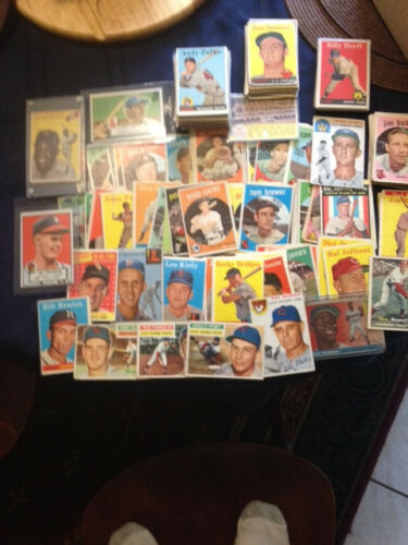 Four Major Sports//Five Decades Hall of Fame Lot of Cards