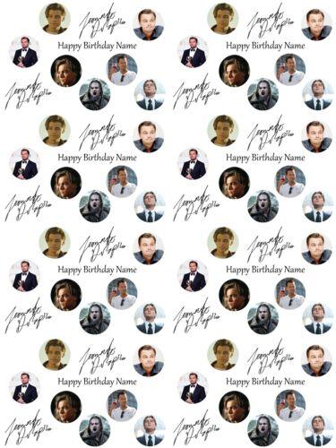 Leonardo DiCaprio Personalised anniversaire Gift Wrap Add Name//S choose Background
