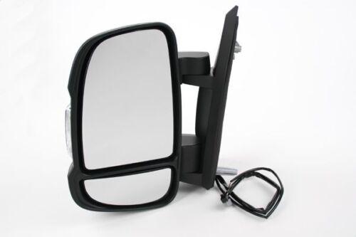 Peugeot Boxer Porte complète Aile Miroir Manuel Noir Bras court droit O//S 2006 2018