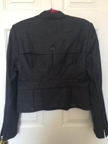 Nwt Størrelse Suit Max Azria Bcbg M Jakke Blå Indigo Blazer r8rXF6wx