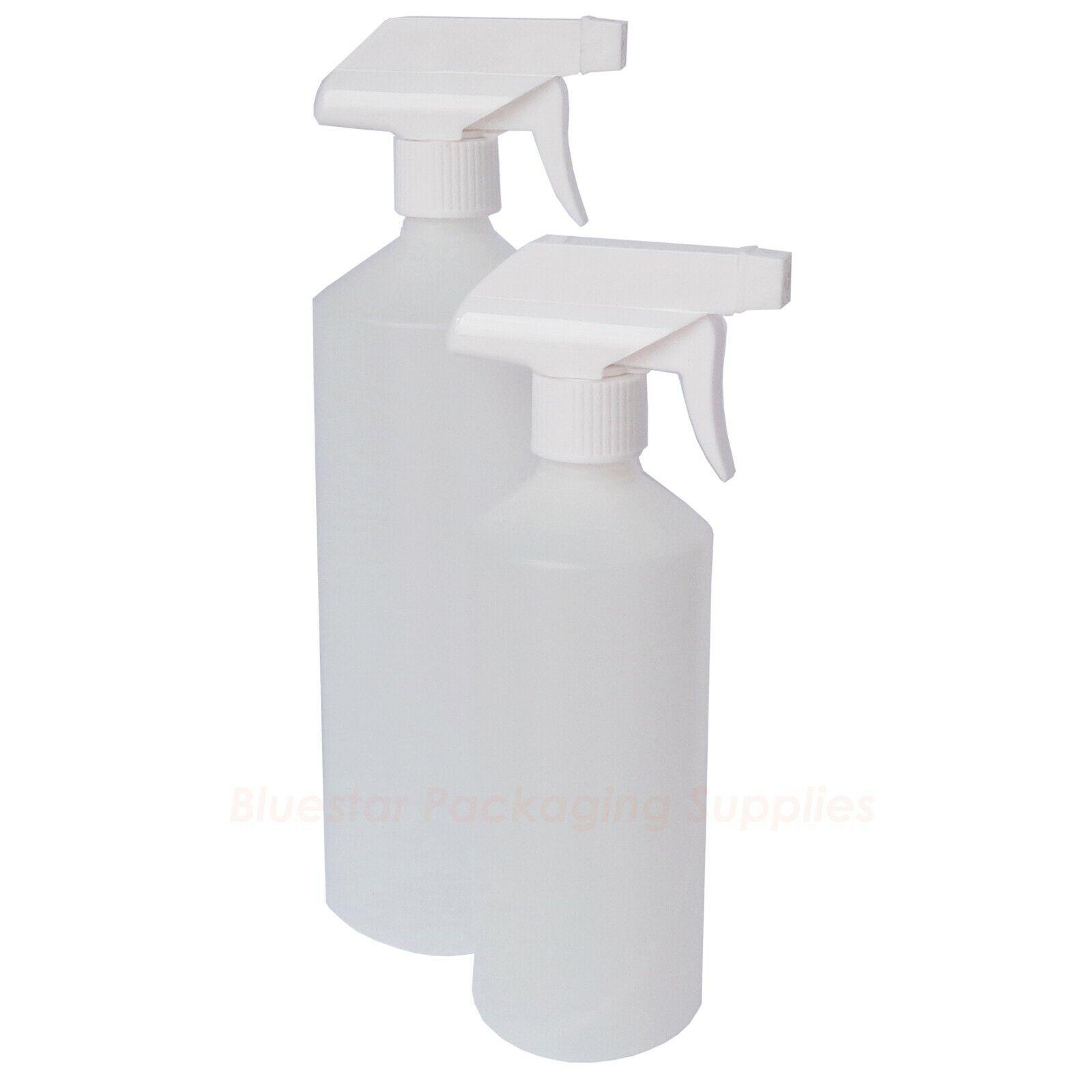 Natural Plastic HDPE Trigger Bottle Car Cleaning Hand Garden Spray 500ml 1000ml