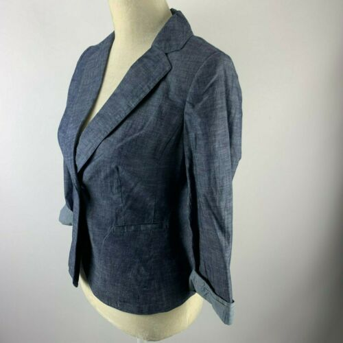 Xs Blue Jacket Limited Nwt 90 Denim Blazer The qEzxRO