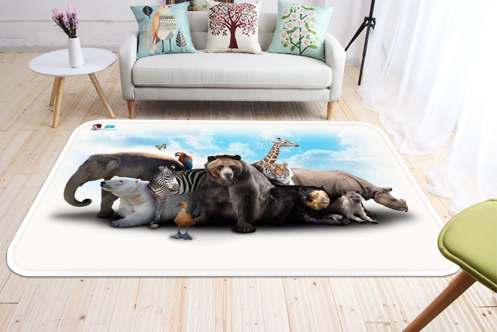 3D Karikatur Tiere 155 Non-Slip Carpet Mat Mat Mat Quality Elegant Carpet DE Summer 42b012