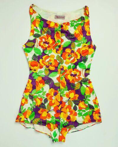 Vintage 1960s? Women's Medium Floral One Piece Swi