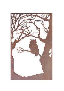 Owl-Wall-Metal-Garden-Wall-Art-Panel-Australian-Made