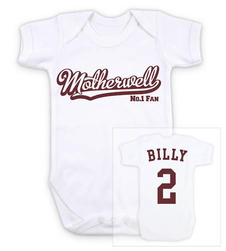 MOTHERWELL Football Personalised Baby Grow Bodysuit