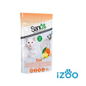 Sanicat Duo 10 L Lettiera Per Gatti Assorbente Agglomerante Sabbia