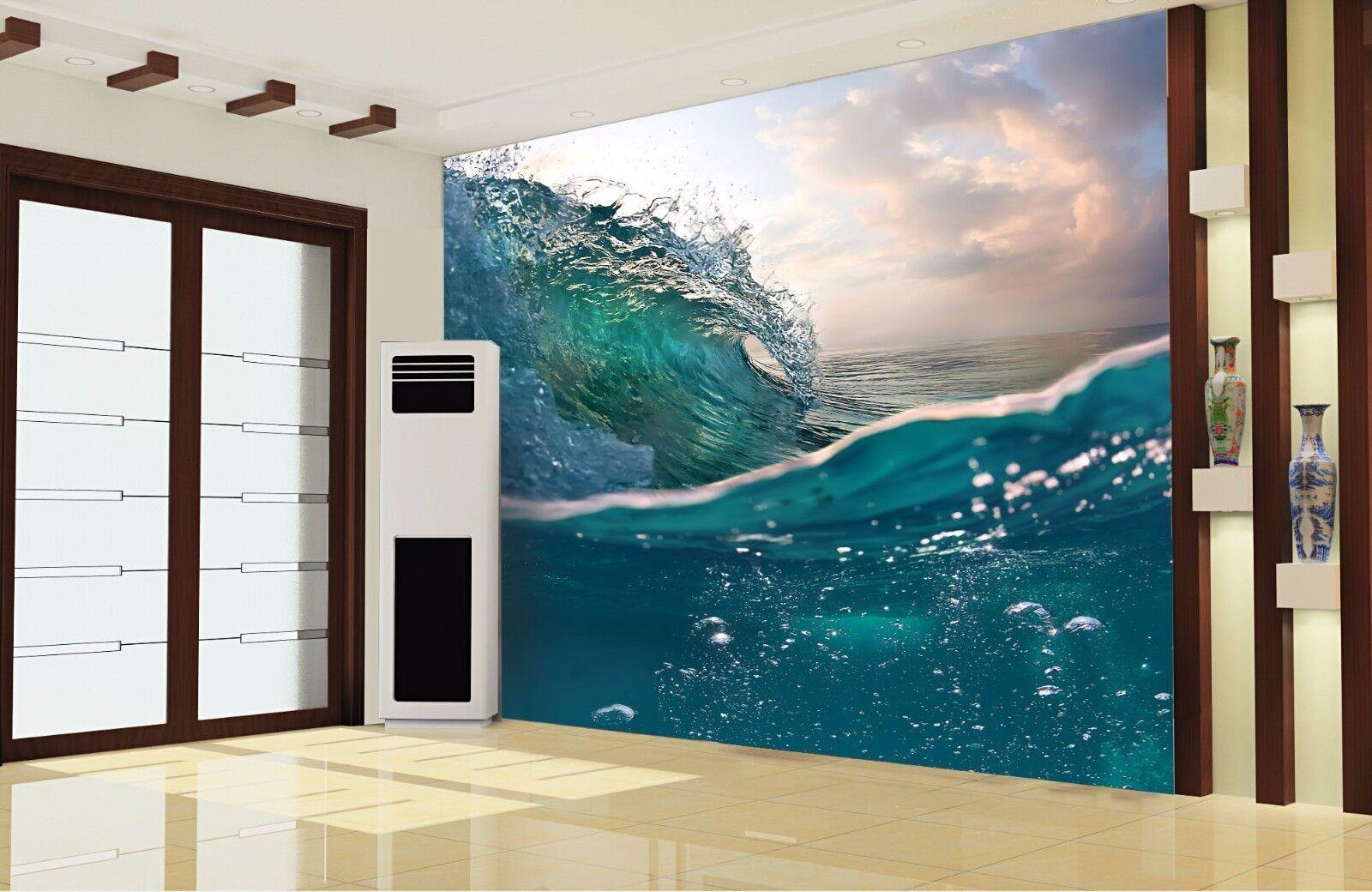 3D Blase Blase Blase Meer Wellen 84 Tapete Wandgemälde Tapete Tapeten Bild Familie DE Summer   Online Store    Ideales Geschenk für alle Gelegenheiten     b312d6