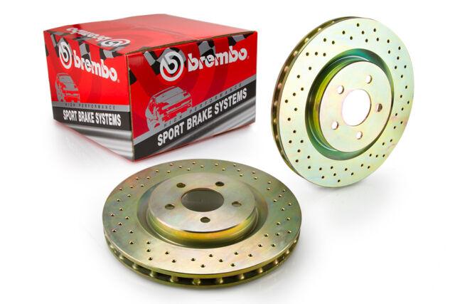 33S50210 - Rear Axle Pair Genuine Brembo Sport Discs Drilled Brake Rotors
