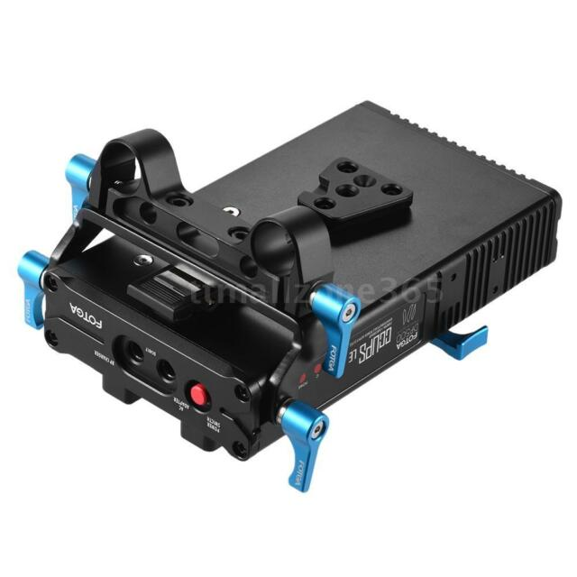 FOTGA DP500III 2 in 1 V-mount Battery Plate Adapter Charger w/ 15mm Rod I5M8