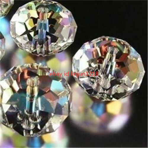 1000PC 3x4mm Blanc Aurora Borealis gemstone crystal Faceted Loose Beads