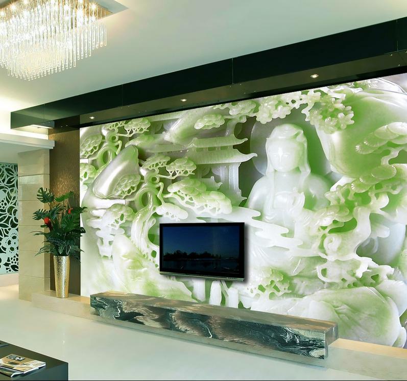 3D Emerald 4535 Wallpaper Murals Wall Print Wallpaper Mural AJ WALL UK Kyry