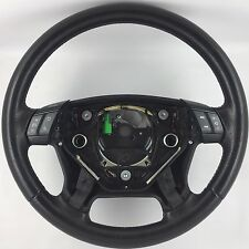 Genuine Volvo black leather MFSW steering wheel with switches. S60,V70,XC70,XC90