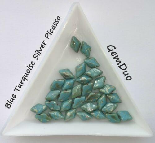 en forme de losange perles 2 Trous Perles-Choisir Couleur 5 G gemduo