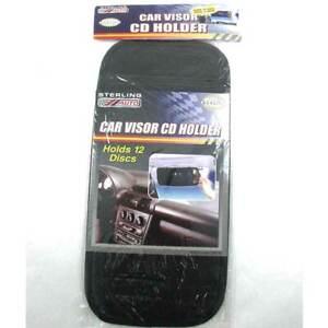 12 Disc Capacity Car Visor Disk CD DVD Organizer Hold Card Case Holder Storage