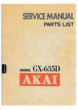 Service Manual-Anleitung für Akai GX-635 D