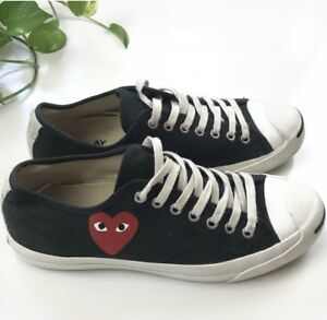 1b98a02621bb Converse Comme des Garcons CDG Play Jack Purcell Black 9 Men s 10.5 ...