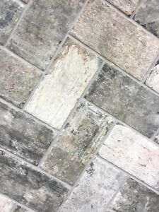Image Is Loading Gray Brick Look 4x8 Porcelain Tile Wall Floor