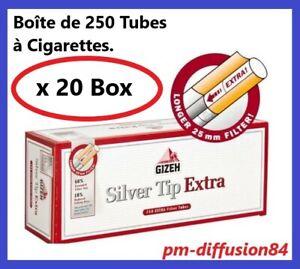 1 BOITE DE 100 TUBES SILVER TIP AVEC FILTRE OFFERTE !!! 1 TUBEUSE SILVER TIP