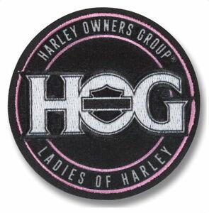 HOG EAGLE BANNER VEST PATCH 5 INCH HARLEY DAVIDSON OWNERS GROUP SMALL