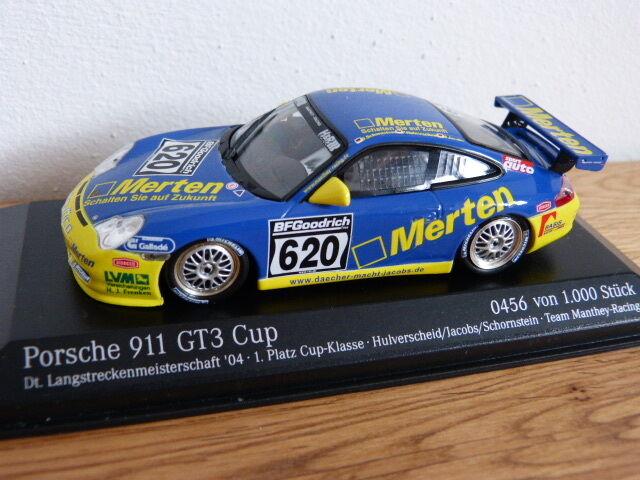PORSCHE 911 996 gt3 CUP TEAM Manthey 2004 VLN Minichamps modello di auto 1 43
