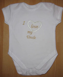 1bd82164d I Love My Uncle Baby Vest Grow Babies Clothes Funny Gift Boy Girl ...