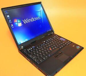 Windows-7-IBM-Laptop-Core-2-Duo-3-6Ghz-2GB-80GB-WIFI-DVD-CD-RW-Lenovo-Thinkpad