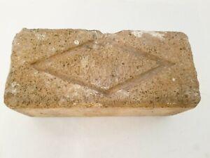 1880s Antique Clay Brick  ANCHOR BRICK Co Hudson River Valley Raised Anchor RARE
