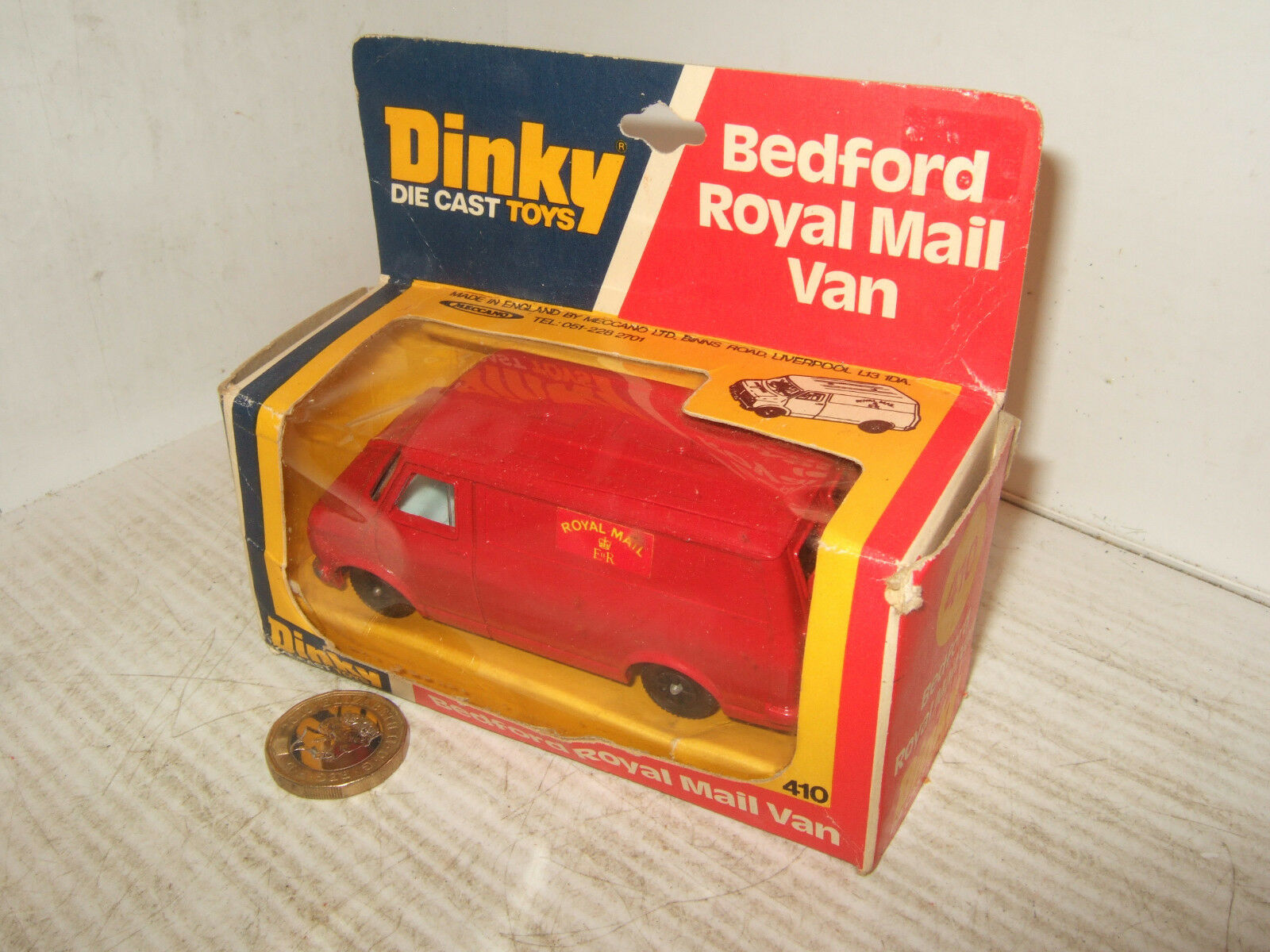 Rare Vintage Dinky Dinky Dinky Toys 410 Bedford Van for The Royal  Mail Diecast Model. 0c9836