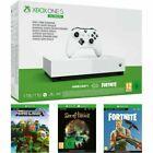 Microsoft Xbox One S 1TB All Digital Edition Pack de Consola y Fortnite, Sea of Thieves y Minecraft - Blanca