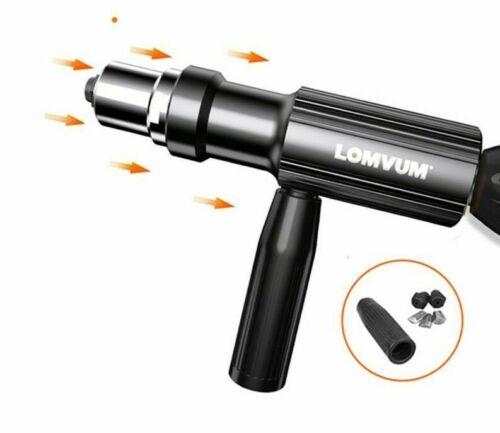 Electric Rivet Gun Drilling Adapter Aluminum Cordless Handle Nail Nut Tool