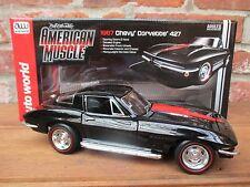 Chevy Corvette 427 1967 in nero ERTL scala 1:18 OVP NUOVO