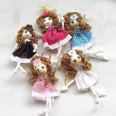 20/100pcs Cute Pattern dress girl small doll craft appliques DIY handicraft