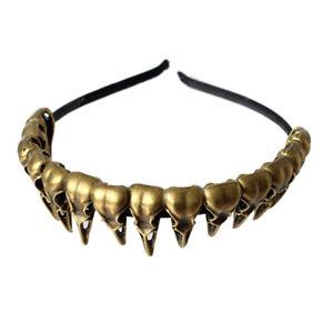 Women-039-s-Raven-Skull-Head-Costume-Headband-Hair-Band-Party-Fancy-Dress-Headwear