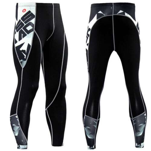 Herren Kompressionshose Leggings Fitness Print Sporthose Laufhose Leggins Hosen