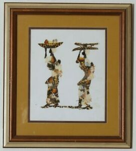 Gorgeous Insect Butterfly Wing Art Two African Women Framed