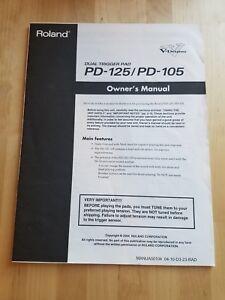 à Condition De Roland Dual Trigger Pad Pd-125/pd-105 Manuel Du Propriétaire-afficher Le Titre D'origine ModèLes à La Mode