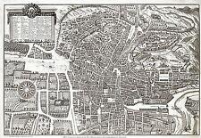 Mapa Antiguo heylan 1797 Plan ciudad Granada España Replica Poster Print pam0914